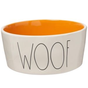 "Rae Dunn ""Woof"" Large Dog Bowl - 8"", Large"